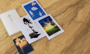 dezente Trauerkarten