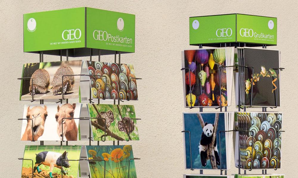 Beeindruckende GEO-Postkarten mit aktuellen Aufnahmen aus dem Tierreich, der Natur und vom Menschen, immer mit kurzer Definition des Motivs auf der Rückseite – als Geburtstags- Dankes- oder Urlaubskarte oder zum Sammeln.